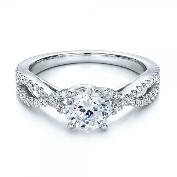 contemporary criss cross diamond engagement ring 100403