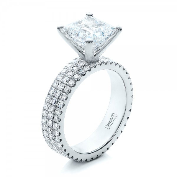 Princess Cut Engagement Rings Custom Design In Bellevue