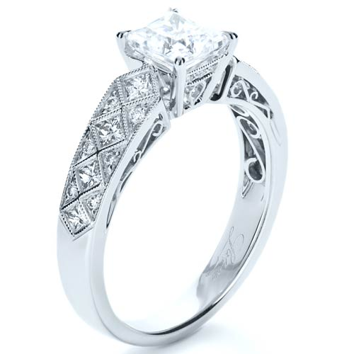 Princess Cut Diamond Women s Wedding Band 1145