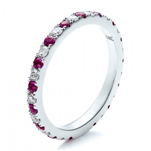 ruby band with matching engagement ring 100002