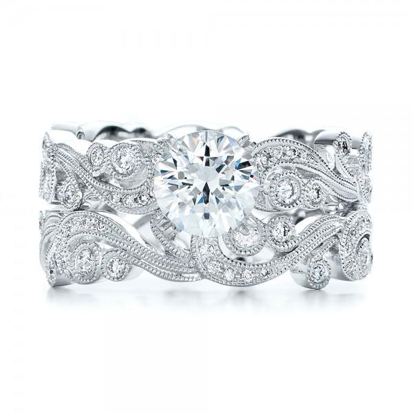 Filigree And Diamond Engagement Ring Kirk Kara 100890