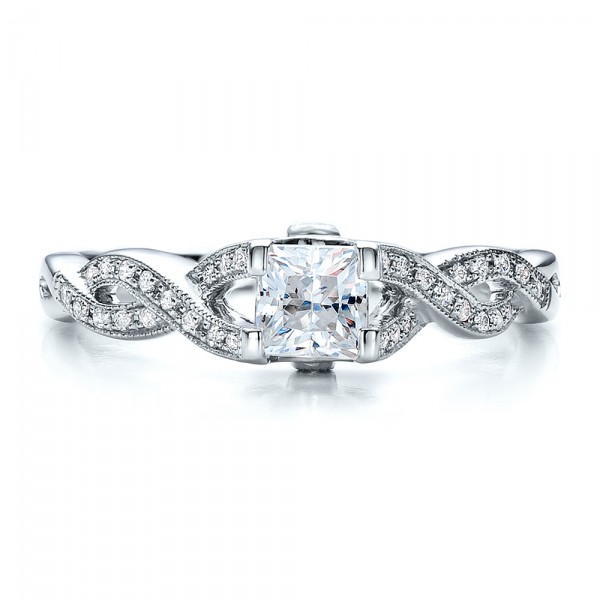 criss cross shank engagement ring vanna k 100082