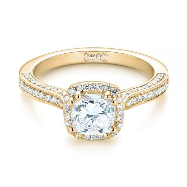 custom halo engagement ring 103535