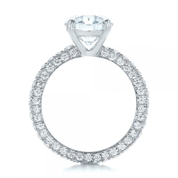 custom pave eternity engagement ring 102143