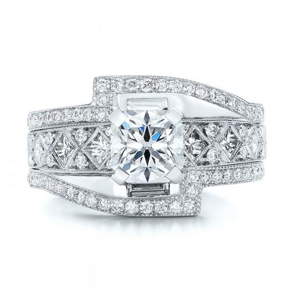 custom interlocking engagement ring 102177