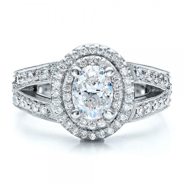 Custom Oval Diamond Engagement Ring