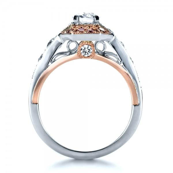 Custom Pink Diamond Engagement Ring 1168
