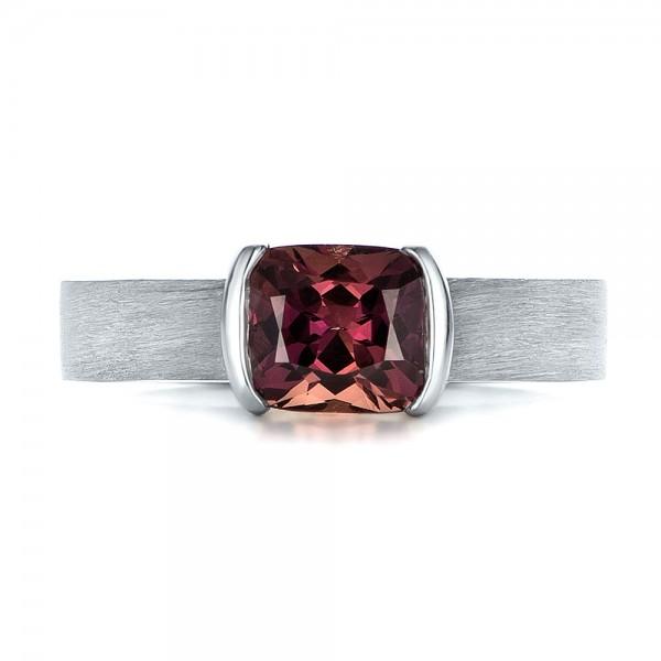 custom platinum and sapphire engagment ring 100805