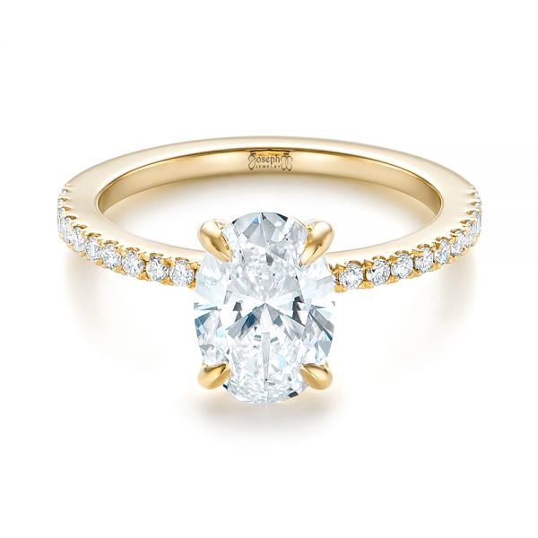 custom gold and engagement ring 103550