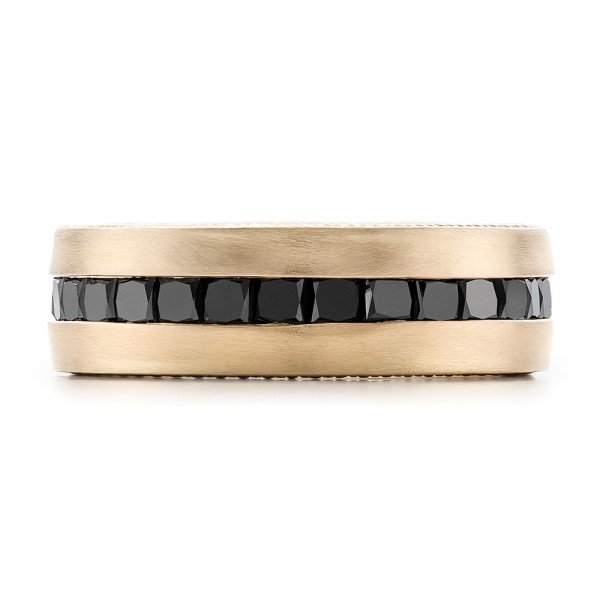 custom black and brushed yellow gold s band