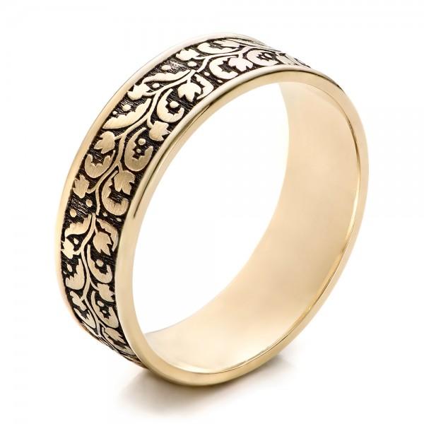 Mens Engraved Wedding Band 101050
