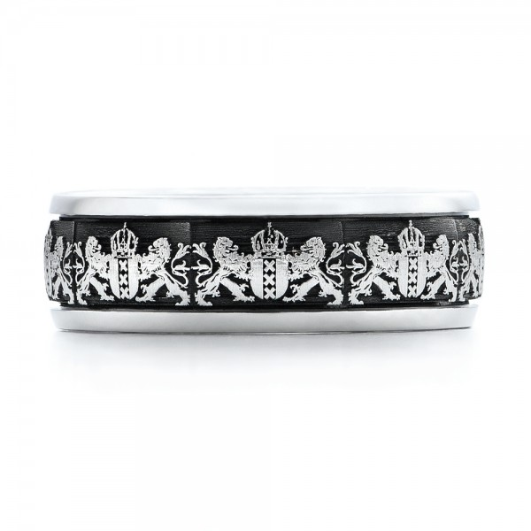 Mens Engraved Wedding Band 101053