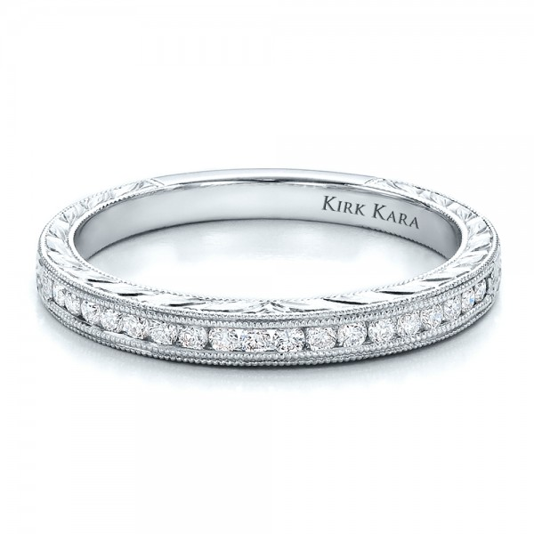 Channel Set Diamond Band With Matching Engagement Ring