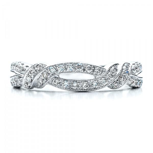split shank wedding band with matching engagement